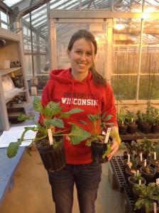 Lauren with in situ vern plants
